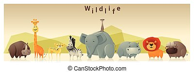 Wild animal background 1 - Wild animal background ,vector,...