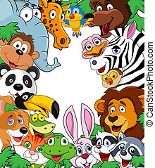 Wild animal background - Vector illustration of wild animal...