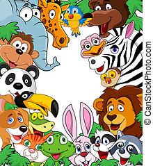 Vector illustration of wild animal bacground