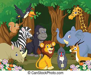 Wild Animal cartoon - Vector illustration of Wild Animal...