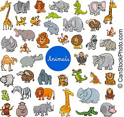 wild animal characters big set