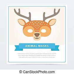 cartoon cute headband with ears holiday set rabbit deer cat bear