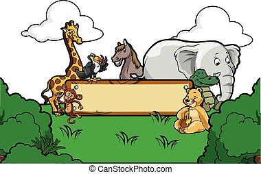 wild animal sign