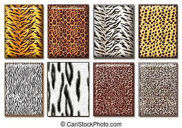 Wild animal skin - Eight wild African animal skin texture ...