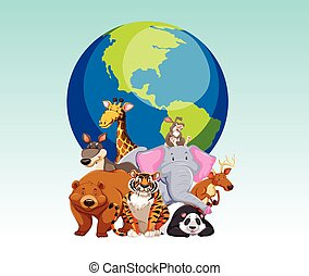 Wild animals and the world