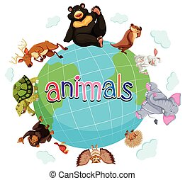 Wild animals around the world