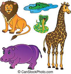 Wild animals collection 01 - vector illustration.