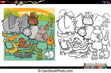 wild animals coloring page