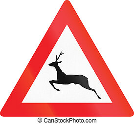 Wild Animals Crossing in Austria