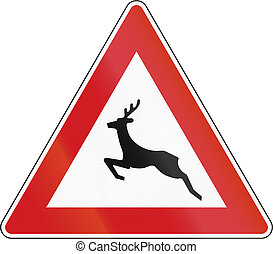 Wild Animals Crossing in The Czech Republic