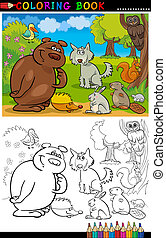 Wild Animals for Coloring