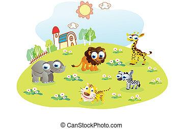wild animals in the home garden