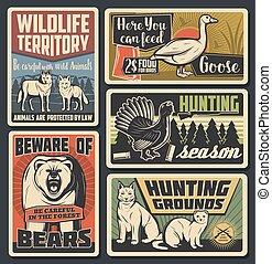Wild animals natural park, wildfowl hunting season