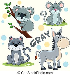 Wild animals of gray color 2.