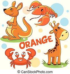 Wild animals of orange color 2