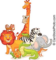 Wild Animals, posing together