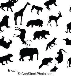 wild animals seamless pattern background