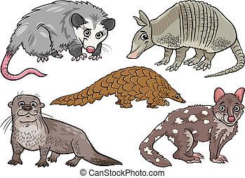 wild animals set cartoon illustration - Cartoon Illustration...
