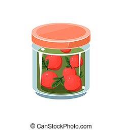 Wild Apples  In Transparent Jar