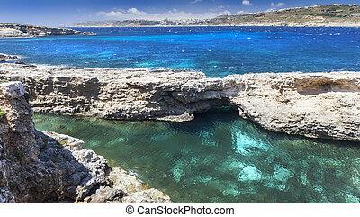 Wild azure coast
