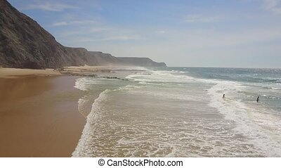 Wild beaches along south and west coast of Portugal - Wild...