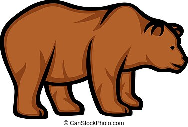 wild bear (grizzly bear)