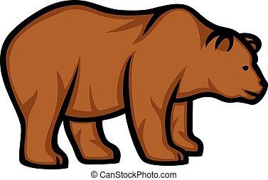wild bear (grizzly bear)