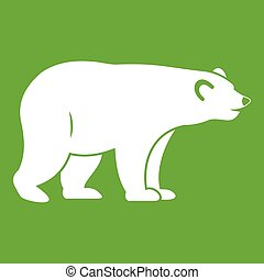 Wild bear icon green