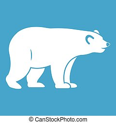 Wild bear icon white