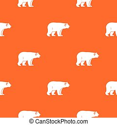 Wild bear pattern seamless