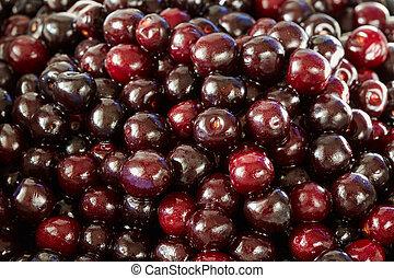 Wild bitter cherries
