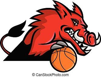 wild-boar-basketball-MASCOT