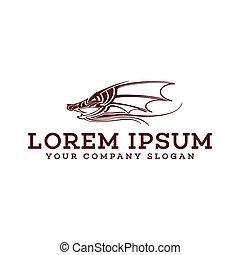 wild boar logo design concept template