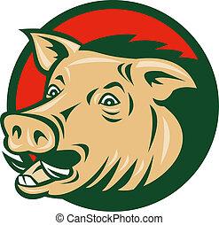 wild boar or razorback - illustration of a wild boar or...