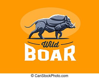 Wild boar with tusks.
