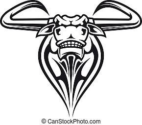 Wild buffalo mascot