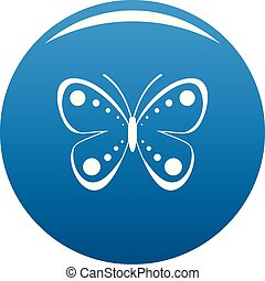 Wild butterfly icon blue vector