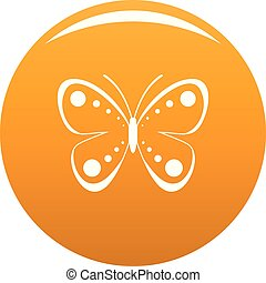 Wild butterfly icon vector orange