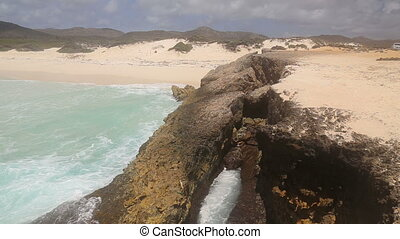 wild caribbean sea beach