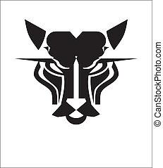 Wild Cat Head, suitable for team identity, sport club logo and mascot, insignia, embellishment, emblem. etc