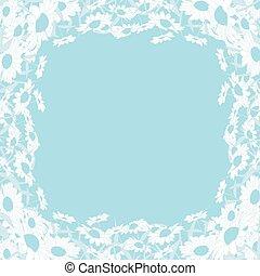 wild chrysanthemum blue frame