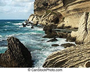 Wild coast - Wild and beautiful coast of c Corsica with...