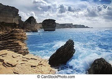 Wild coast - Wild and beautiful coast of c Corsica with ...
