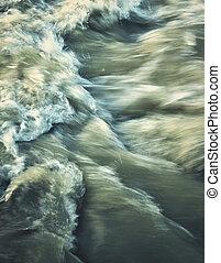 Wild dark river