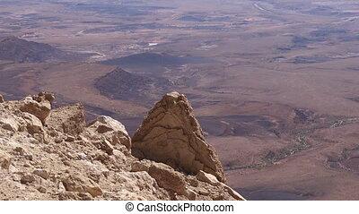 Wild desert landscape of Makhtesh Ramon Israel