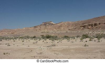 Wild desert landscape of Negev Desert Israel