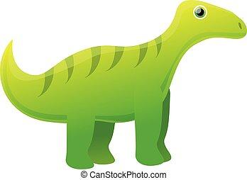 Wild dinosaur icon, cartoon style