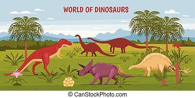 Wild Dinosaur World Background