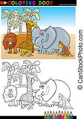 wild, färbung, tiere, safari