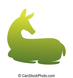 wild fawn animal green silhouette nature icon